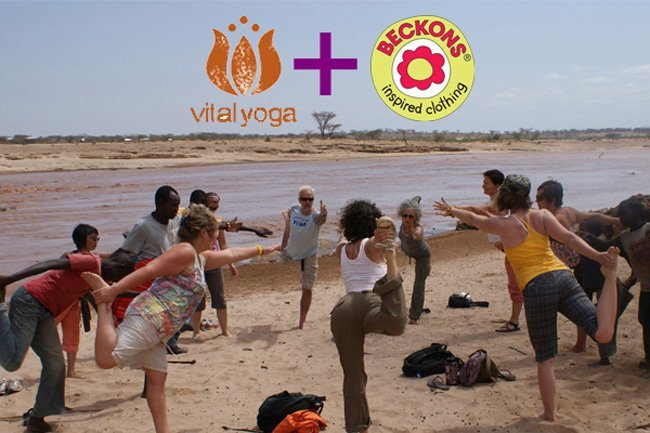 Beckons Yoga Clothing partners with Vital Yoga for Samburu Tribe